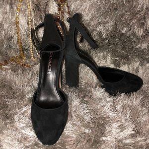 953c49044be Coach Shoes - 🆕Coach Chrystie A01428 Black Suede Heels T-Rex
